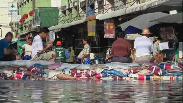 Rising floodwaters in Thailand