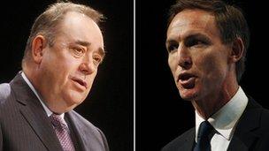 Alex Salmond and Jim Murphy