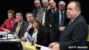 Alex Salmond with SNP cabinet
