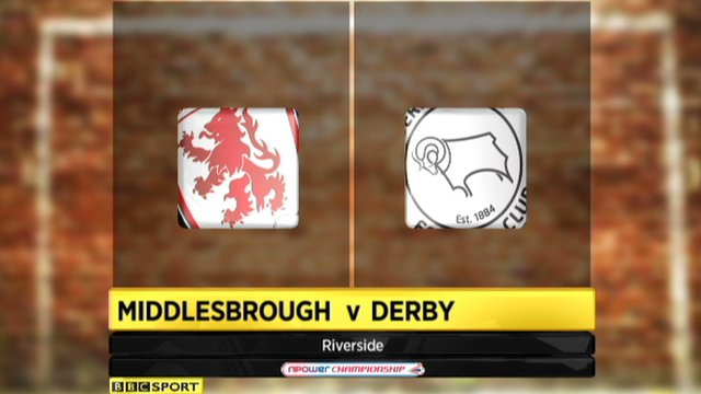 Highlights - Middlesbrough 2-0 Derby