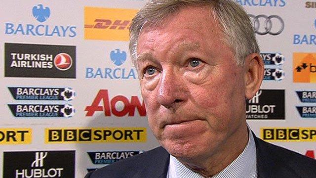 Manchester Utd manager Sir Alex Ferguson