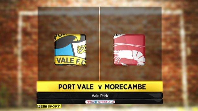 Port Vale v Morecambe