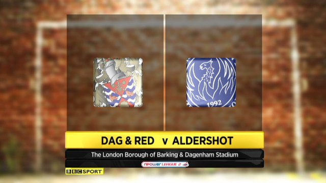 Dag and Red 2-5 Aldershot