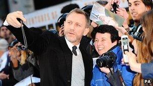 Daniel Craig at the Tintin premiere