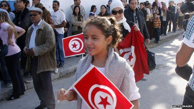 Election scene in Tunisia