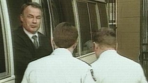 Video grab of Ivan Milat at his trial in 1996
