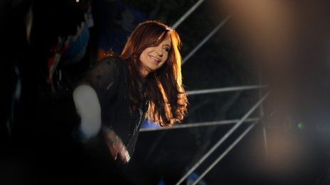 Cristina Fernandez after her election victory on 23 October