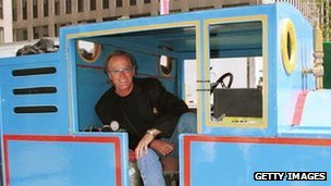 Peter Fonda inside Thomas the Tank Engine