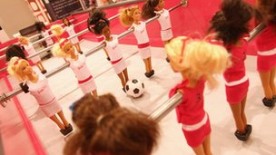 Table football edition of Barbie