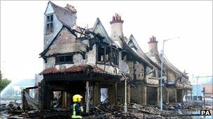The House of Reeves shop, which was destroyed during the riots in Croydon
