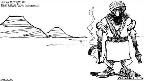 Zahoor cartoon Copyright: Express Tribune
