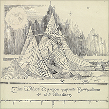The White Dragon Pursues Roverandom & the Moondog by JRR Tolkien