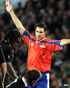 Craig Joubert awards a penalty on Sunday