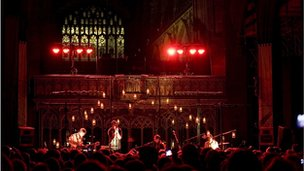 Grizzly Bear at Manchester Cathedral