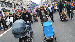 Anti-cuts protest, London, 2011