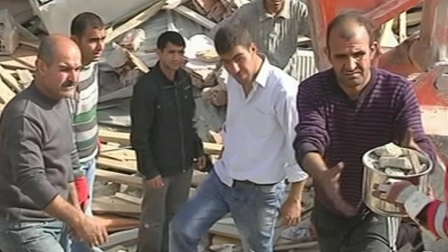 Family searches for missing brother in rubble of Turkish building