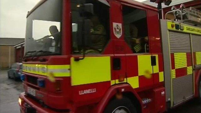 Llanelli fire engine