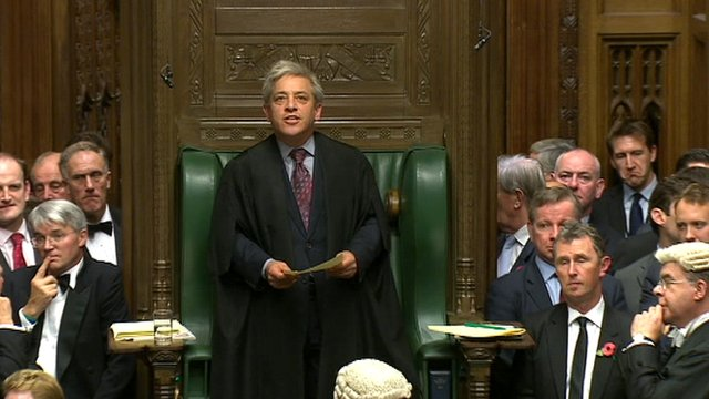 Commons Speaker, John Bercow