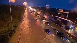 Flooded N7 motorway