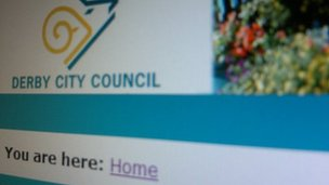 Derby City Council's website