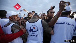 Ennahda closing campaign rally in Tunis, 21 October, 2011. 