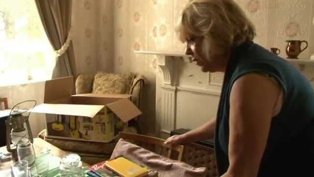 Gillian Webb packs up her mother's belongings