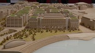 Model of proposed development at the Esplanade Quarter