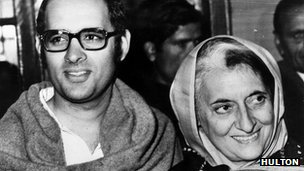 File photograph of Sanjay and Indira Gandhi in 1980
