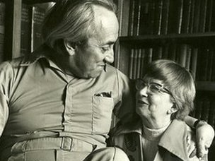 Dr Alex Comfort and his second wife Jane