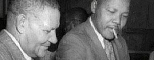Walter Sisulu and Nelson Mandela