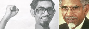 Mac Maharaj on his release in 1976 and today