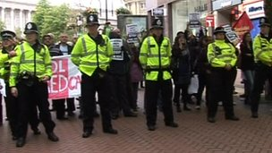 Scenes from the last EDL demo in Birmingham