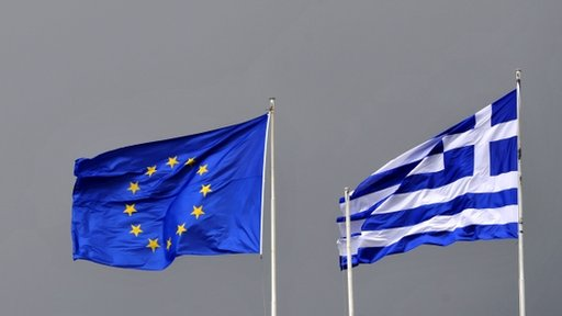 EU and Greek flags