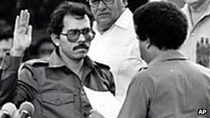 Daniel Ortega sworn in as president in 1985