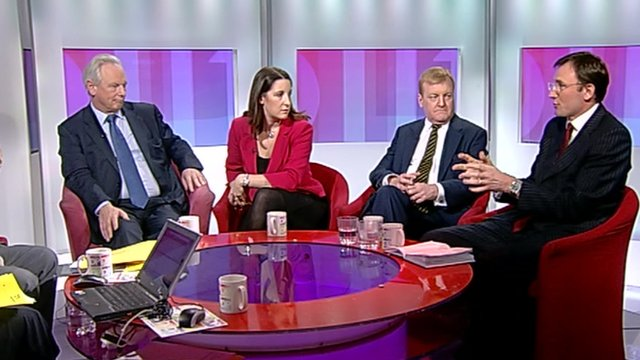 Francis Maude, Rachel Reeves, Charles Kennedy and James Landale