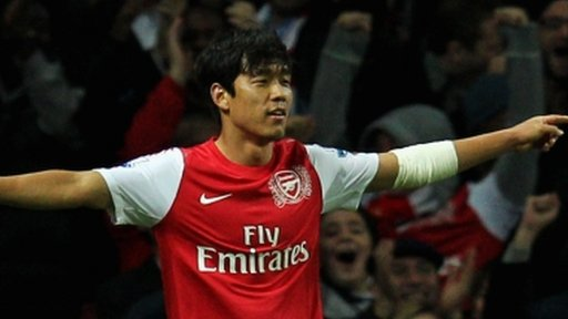 Park Chu-Young scores winner for Arsenal against Bolton