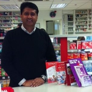 Mukesh Lad in one of his pharmacies