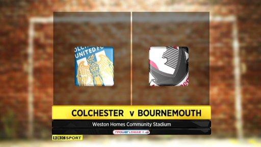 Colchester 1-1 Bournemouth