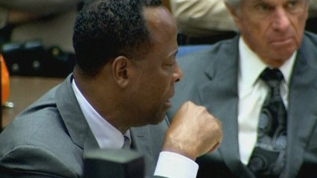 Conrad Murray weeps in court