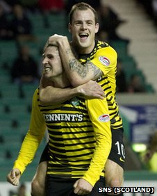 Gary Hooper and Anthony Stokes