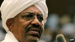 President Omar al-Bashir addressing parliament on 12 July 2011
