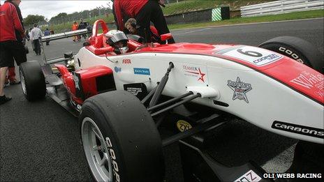 Oli Webb in his Formula 3 car