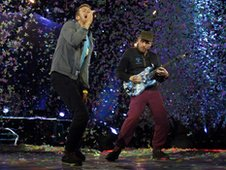 Coldplay on stage