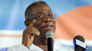 President John Atta Mills (archive shot)