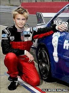 Oli Webb with his car in 2005