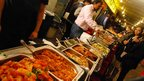 Food stall at Diwali celebrations in Leicester