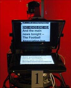 A BBC autocue