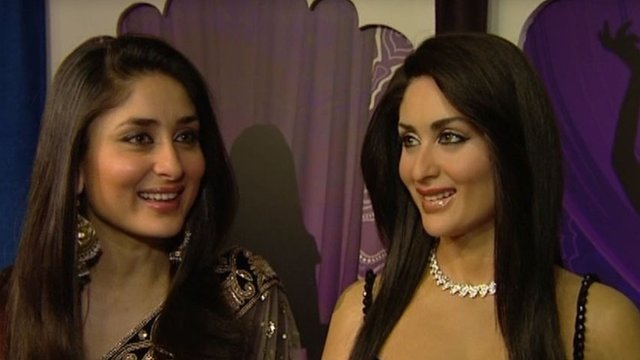 Kareena Kapoor with her waxwork