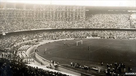 Inaugural game at the Maracana in 1950. Photo: Suderj