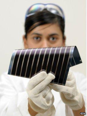 DSSC solar cell